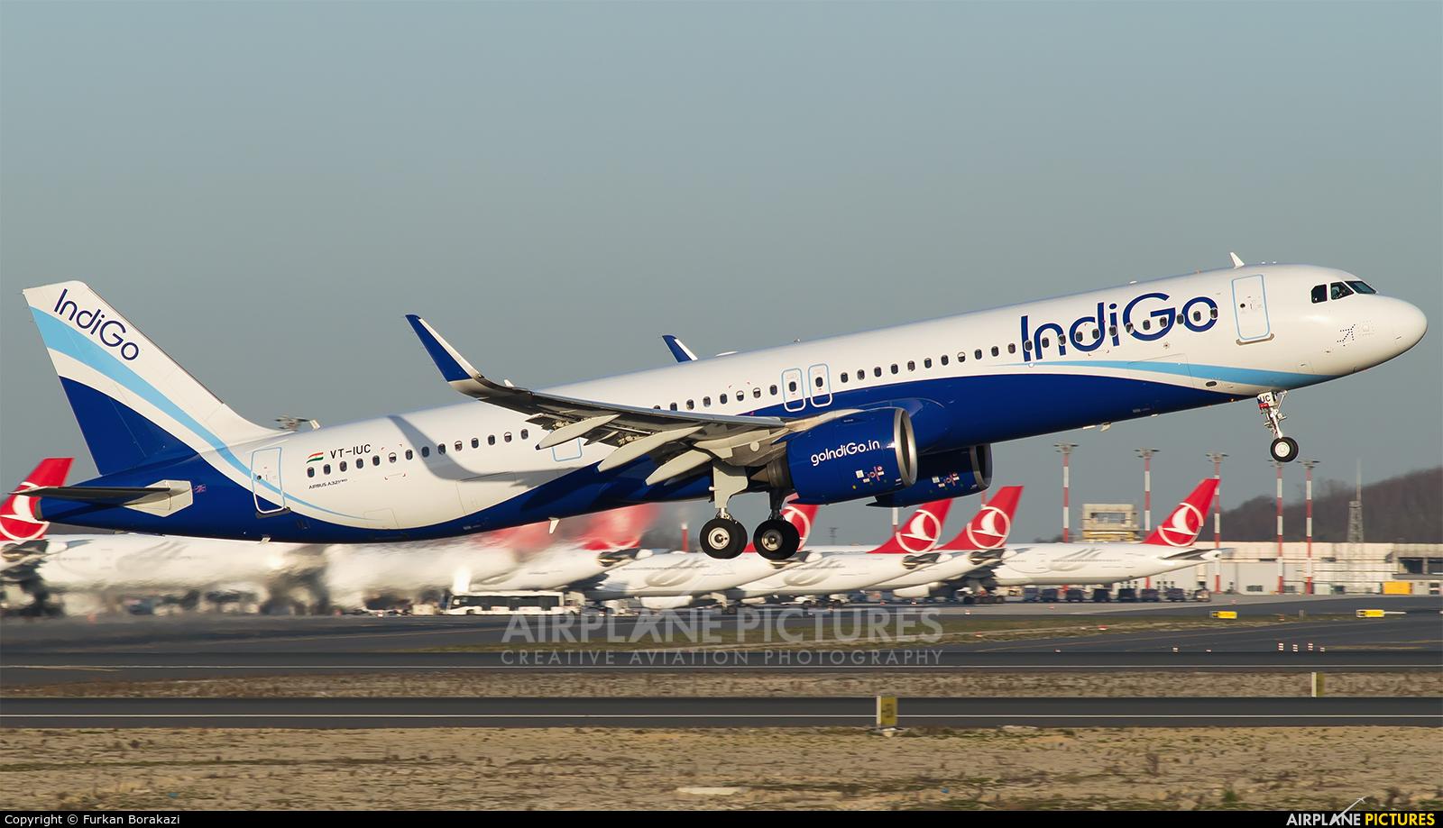 IndiGo VT-IUC aircraft at İstanbul New Airport