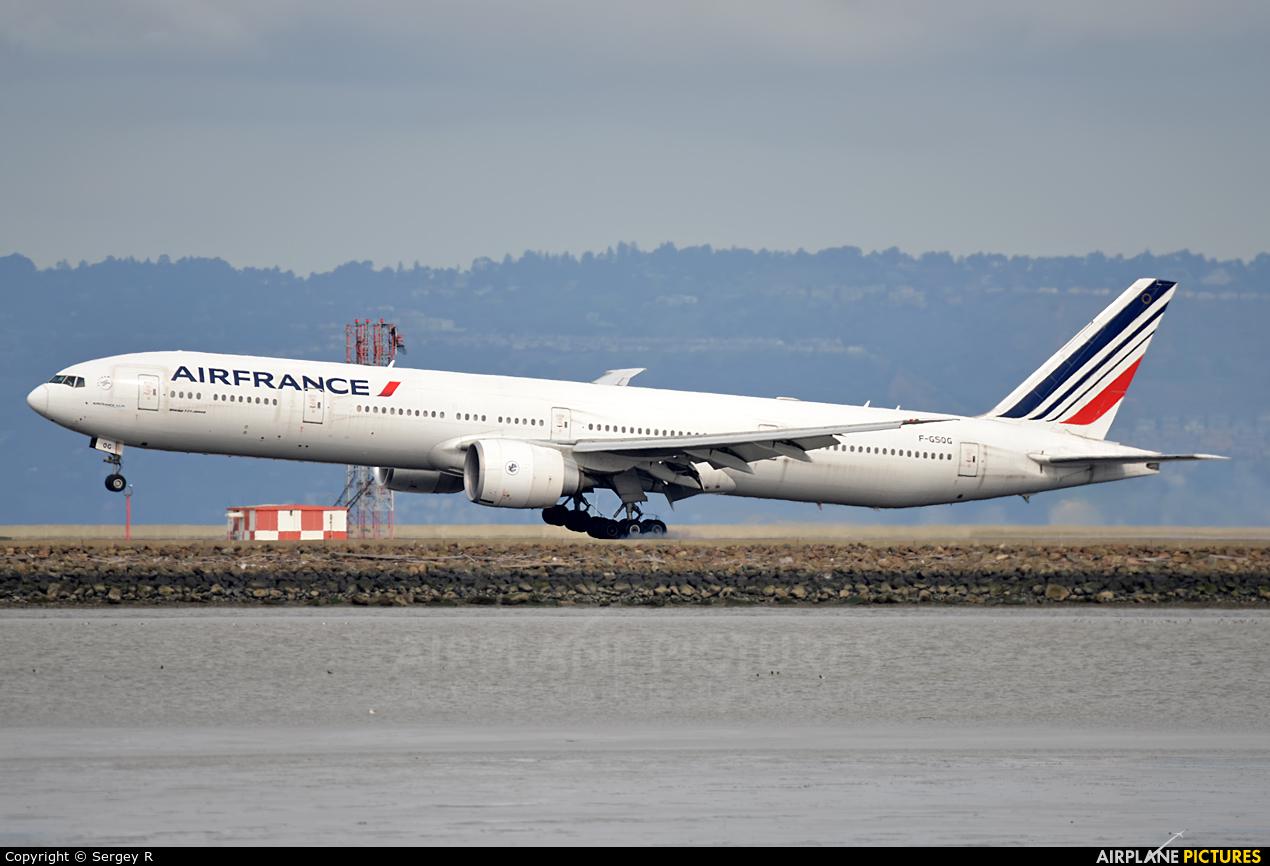 Air France F-GSQG aircraft at San Francisco Intl