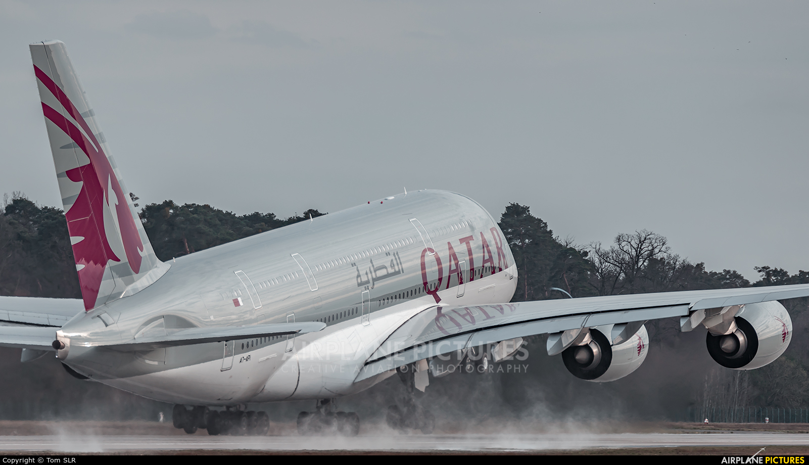 Qatar Airways A7-API aircraft at Frankfurt