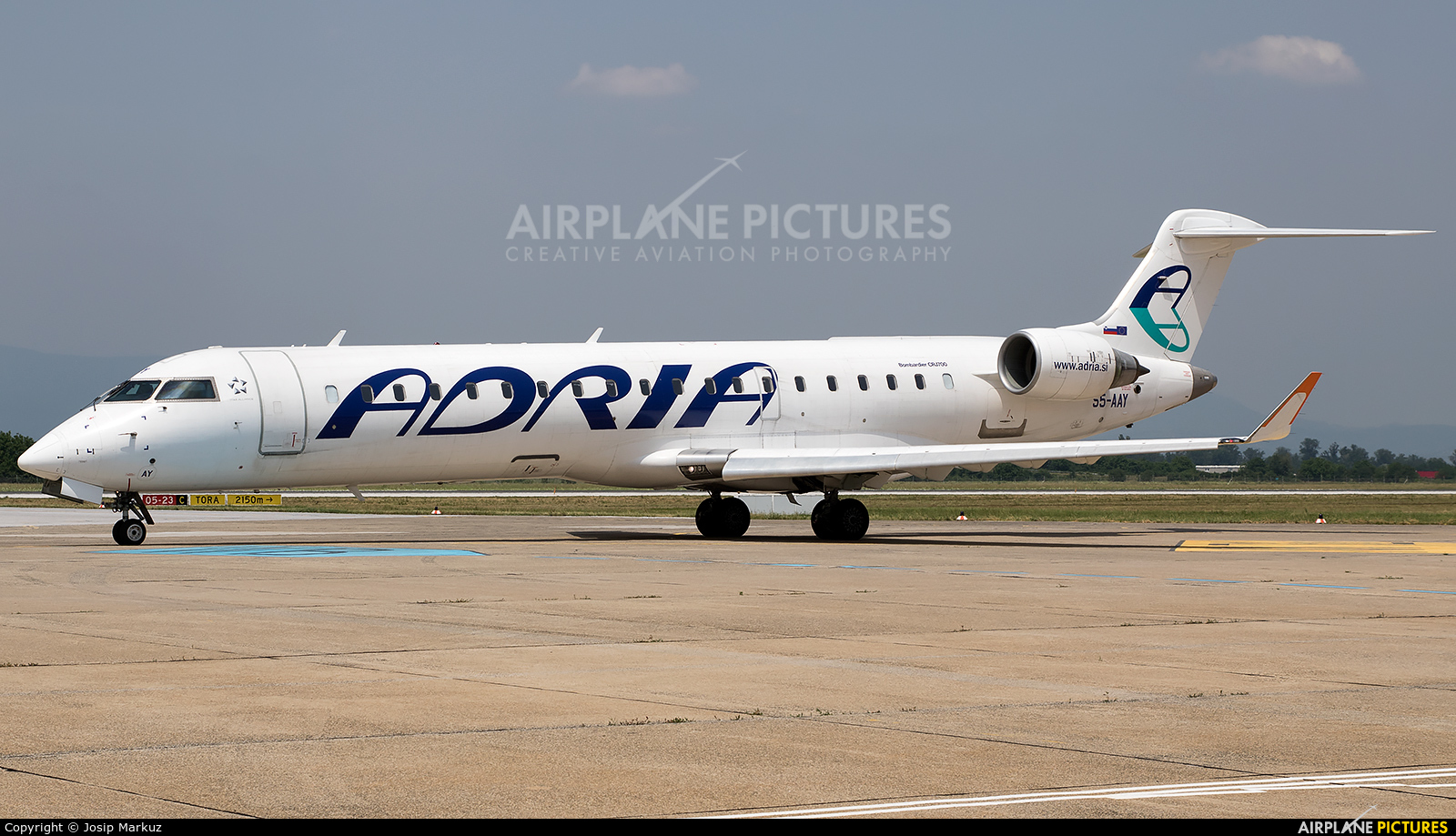 Adria Airways S5-AAY aircraft at Zagreb