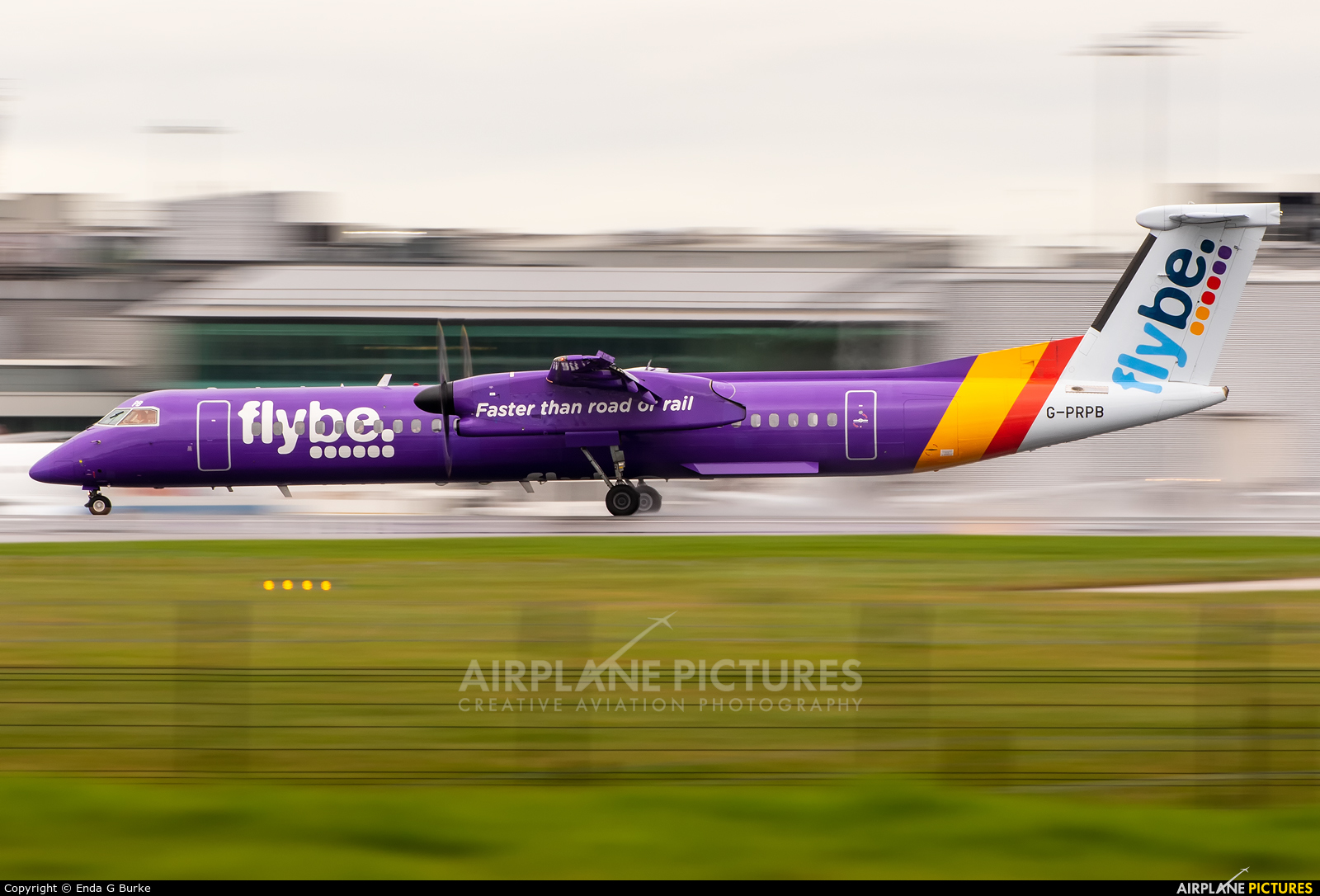 Flybe G-PRPB aircraft at Manchester