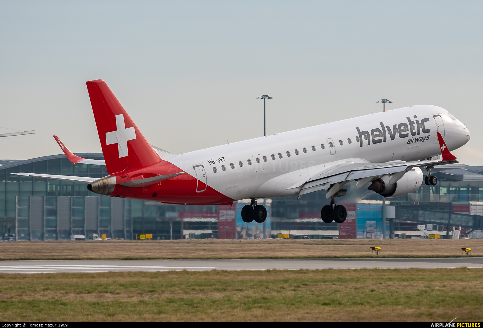 Helvetic Airways HB-JVT aircraft at Wrocław - Copernicus