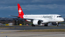 First visit of Helvetic Embraer E2 to Prague title=