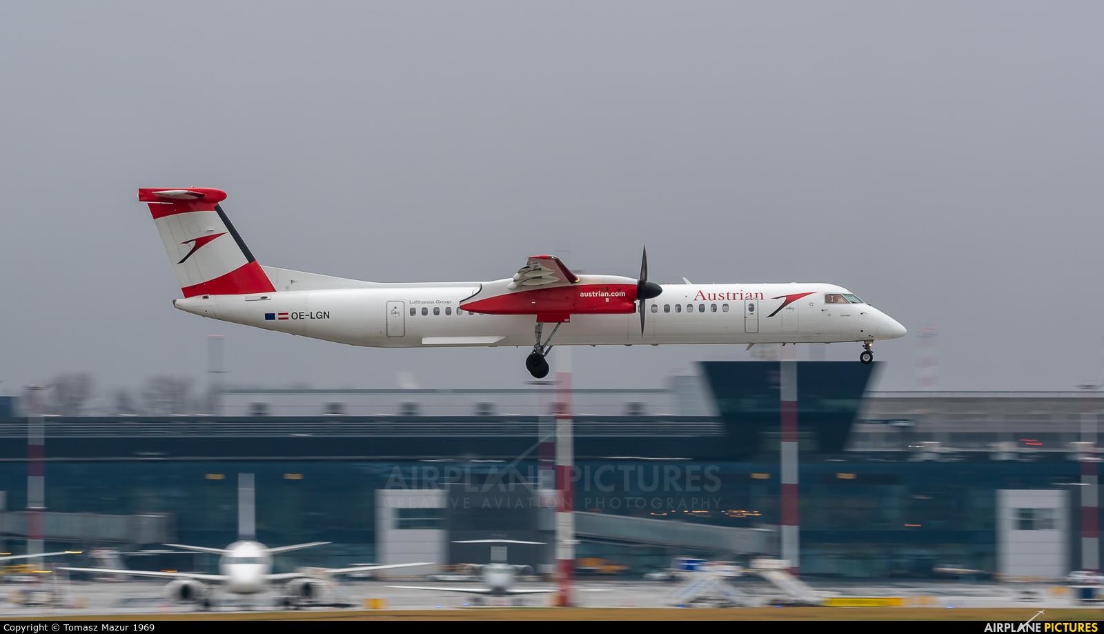 Austrian Airlines/Arrows/Tyrolean OE-LGN aircraft at Kraków - John Paul II Intl