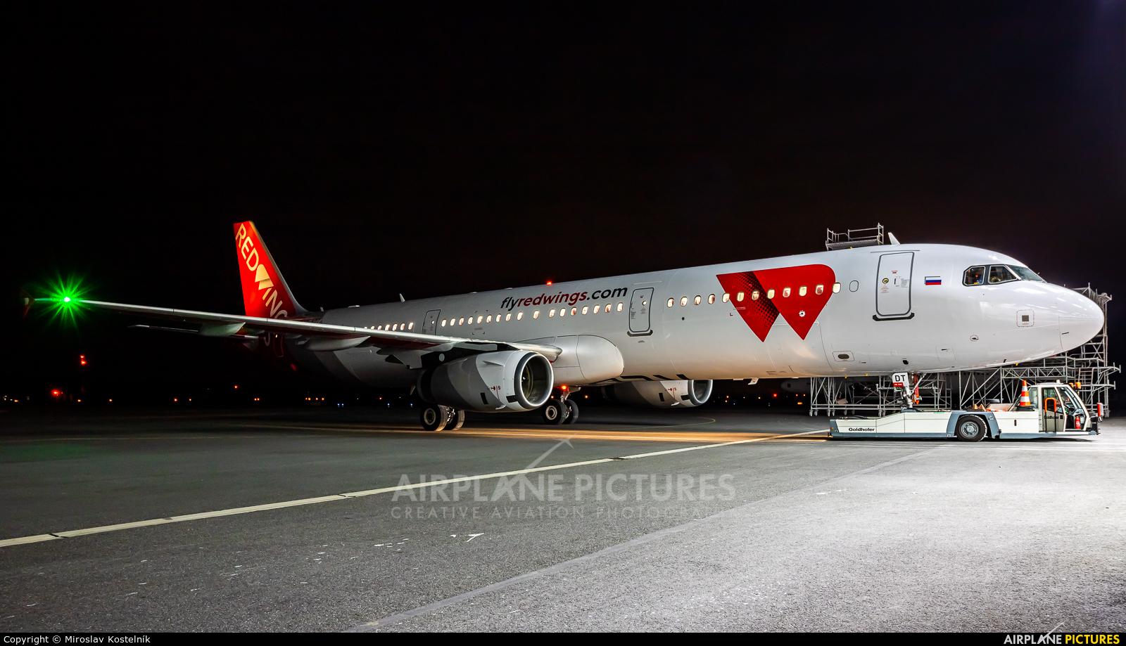 Red Wings A7-ADT aircraft at Ostrava Mošnov