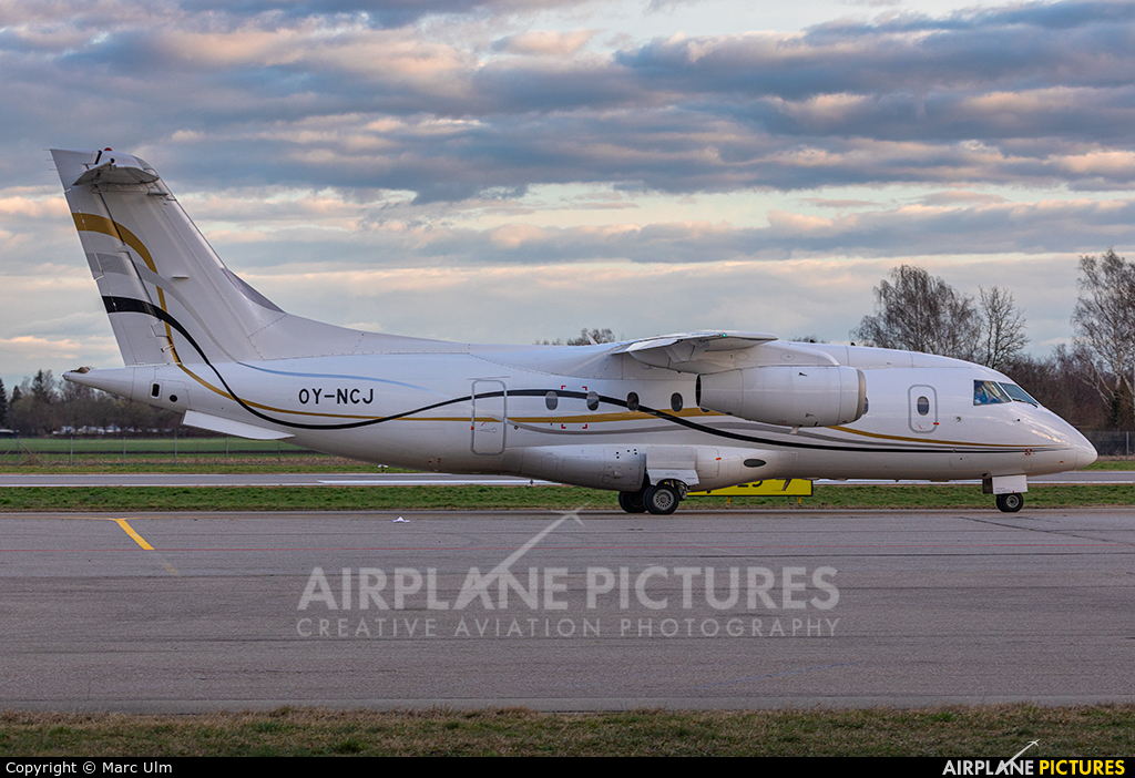 Sun Air OY-NCJ aircraft at Augsburg