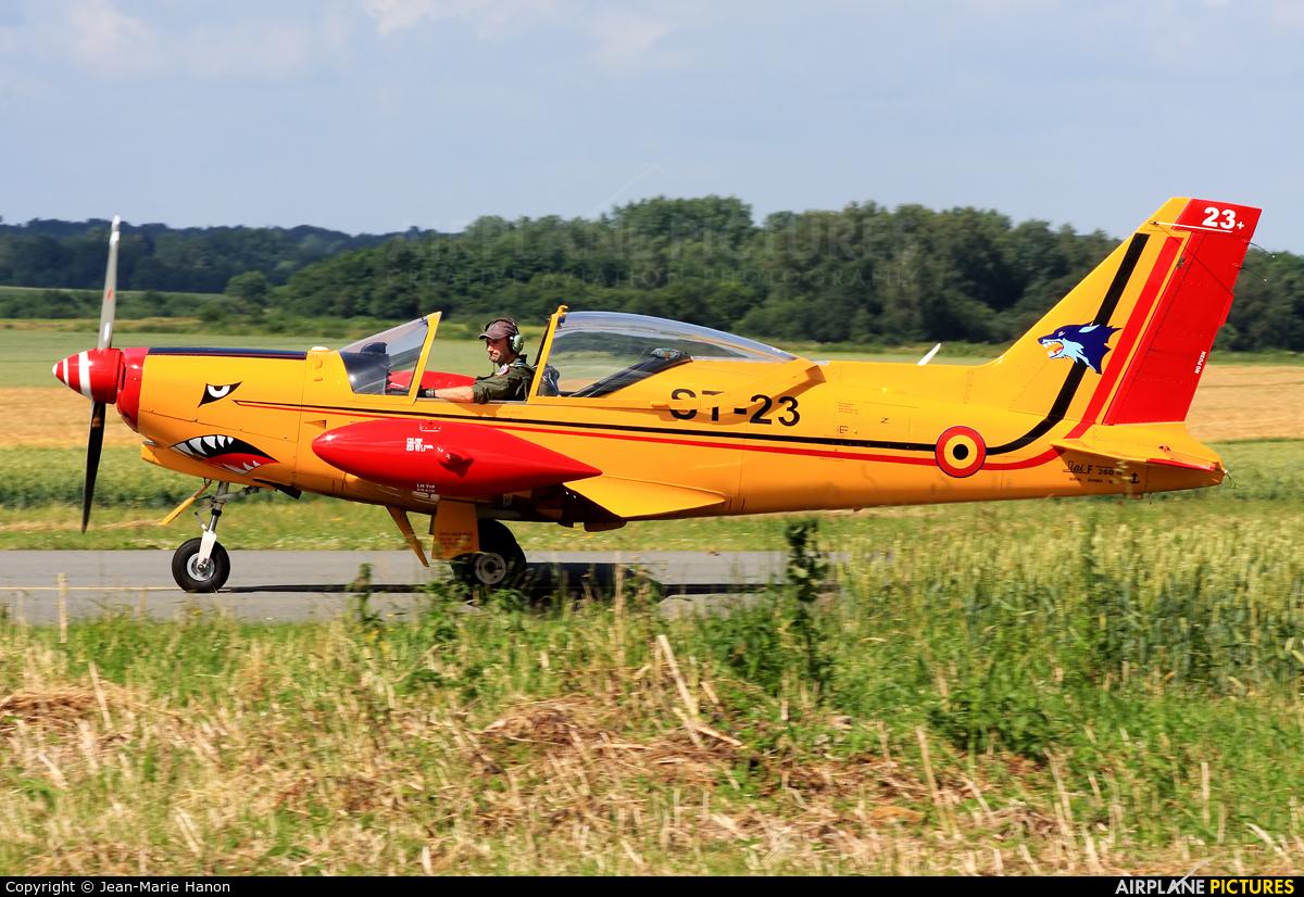 """Belgium - Air Force """"Les Diables Rouges"""" ST-23 aircraft at Florennes"""