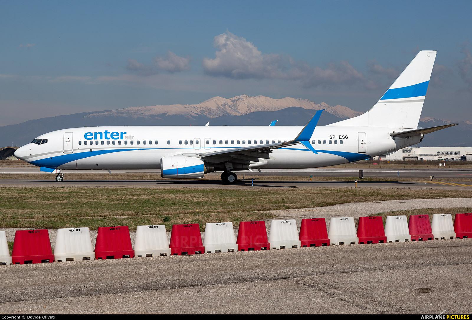 Enter Air SP-ESG aircraft at Verona - Villafranca