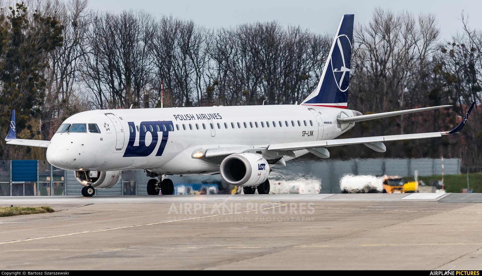 LOT - Polish Airlines SP-LNK aircraft at Wrocław - Copernicus