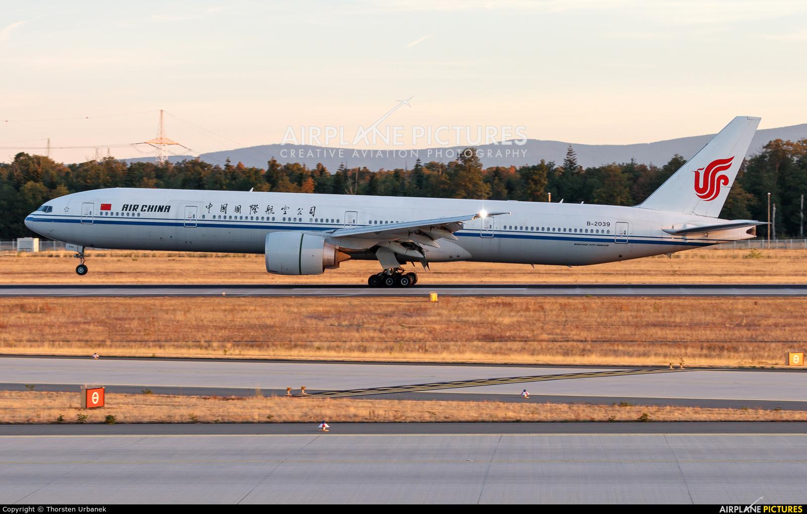 Air China B-2039 aircraft at Frankfurt