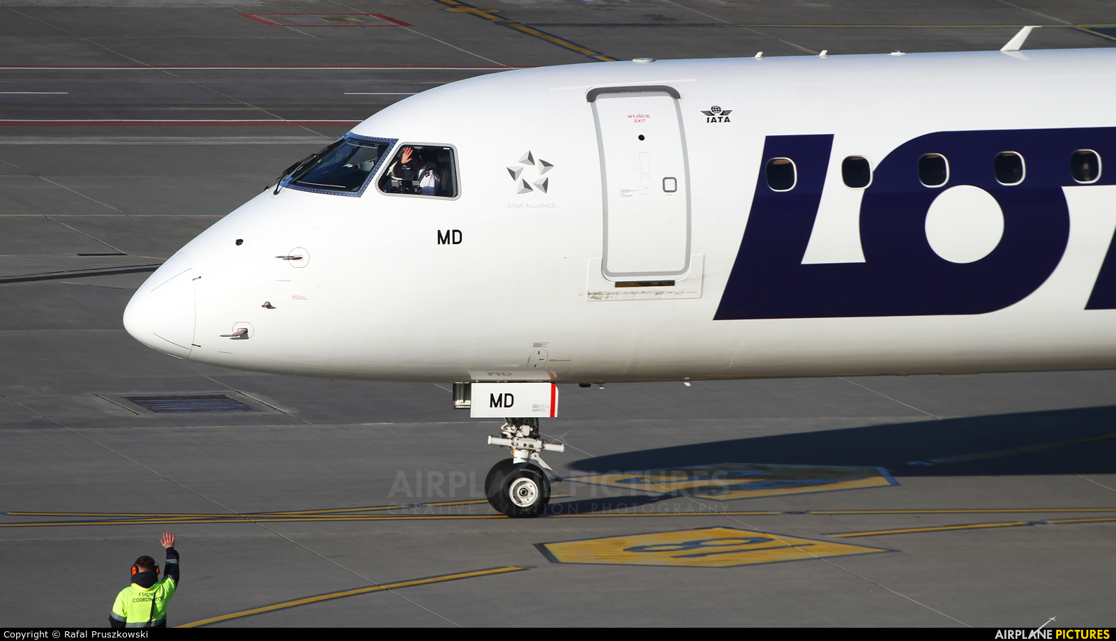 LOT - Polish Airlines SP-LMD aircraft at Warsaw - Frederic Chopin