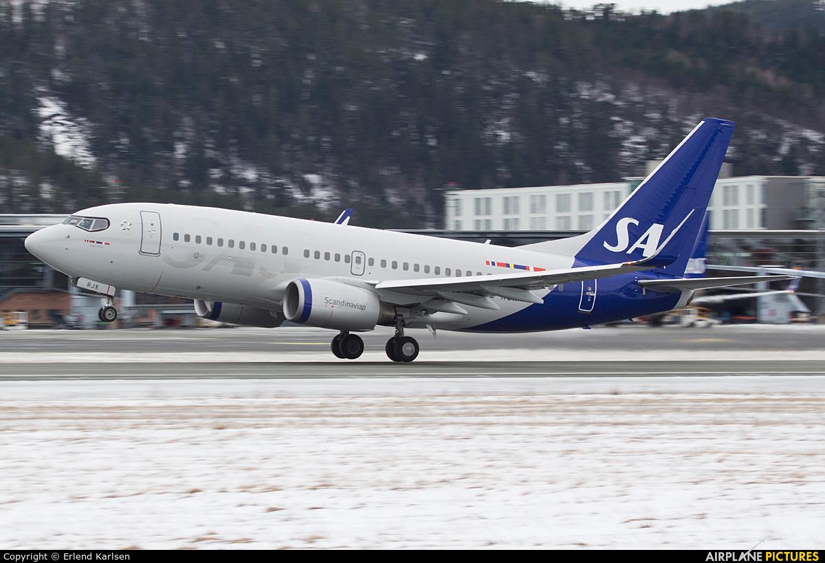 SAS - Scandinavian Airlines SE-RJX aircraft at Trondheim - Vaernes