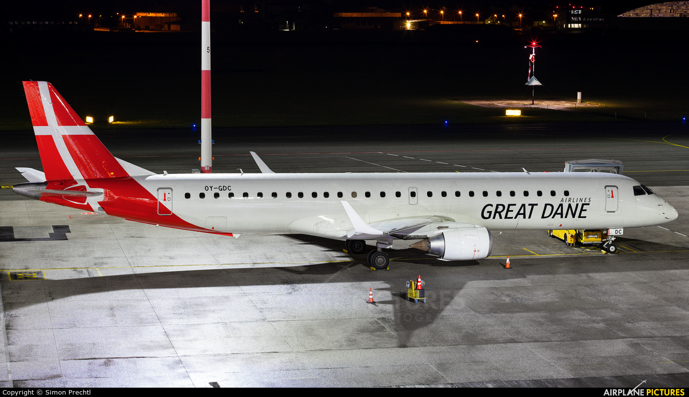 Great Dane Airlines OY-GDC aircraft at Linz