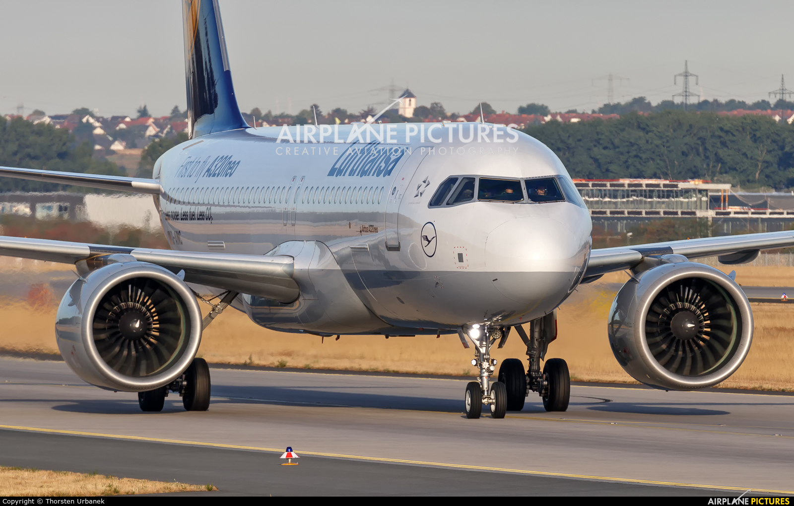 Lufthansa D-AINC aircraft at Frankfurt
