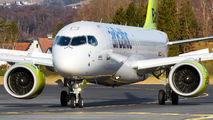 YL-CSH - Air Baltic Bombardier CS300 aircraft