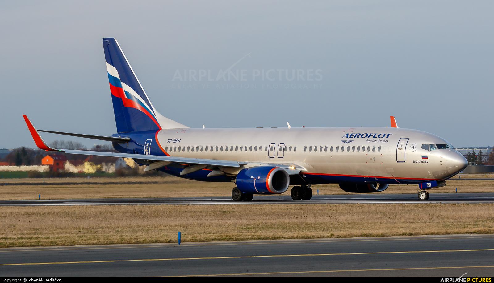 Aeroflot VP-BRH aircraft at Prague - Václav Havel