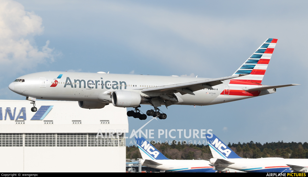 American Airlines N770AN aircraft at Tokyo - Narita Intl