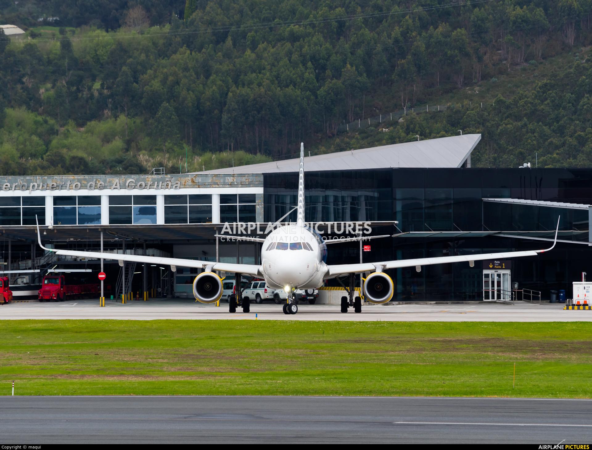 Vueling Airlines EC-MYC aircraft at La Coruña