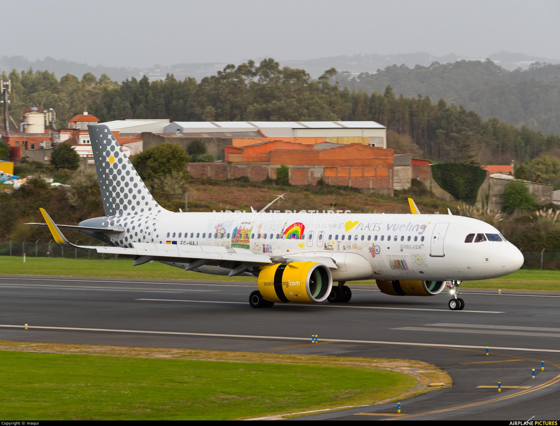 Vueling Airlines EC-NAJ aircraft at La Coruña