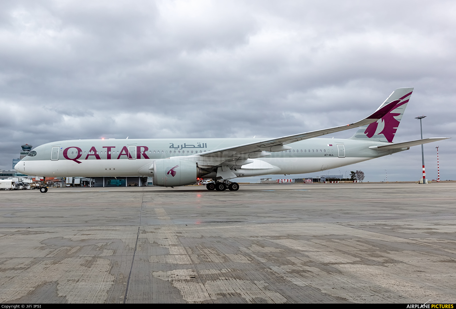 Qatar Airways A7-ALL aircraft at Prague - Václav Havel