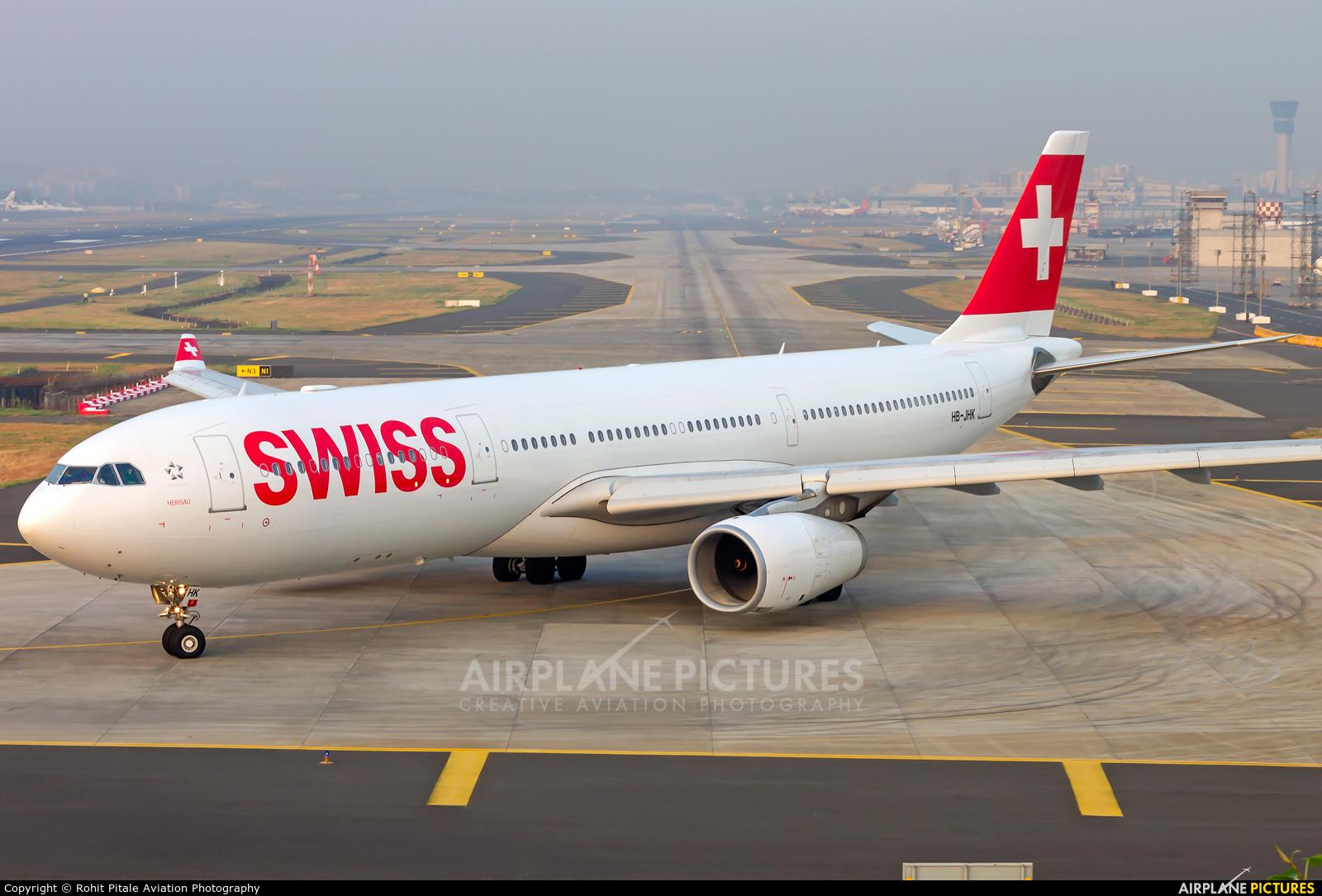 Swiss HB-JHK aircraft at Mumbai - Chhatrapati Shivaji Intl
