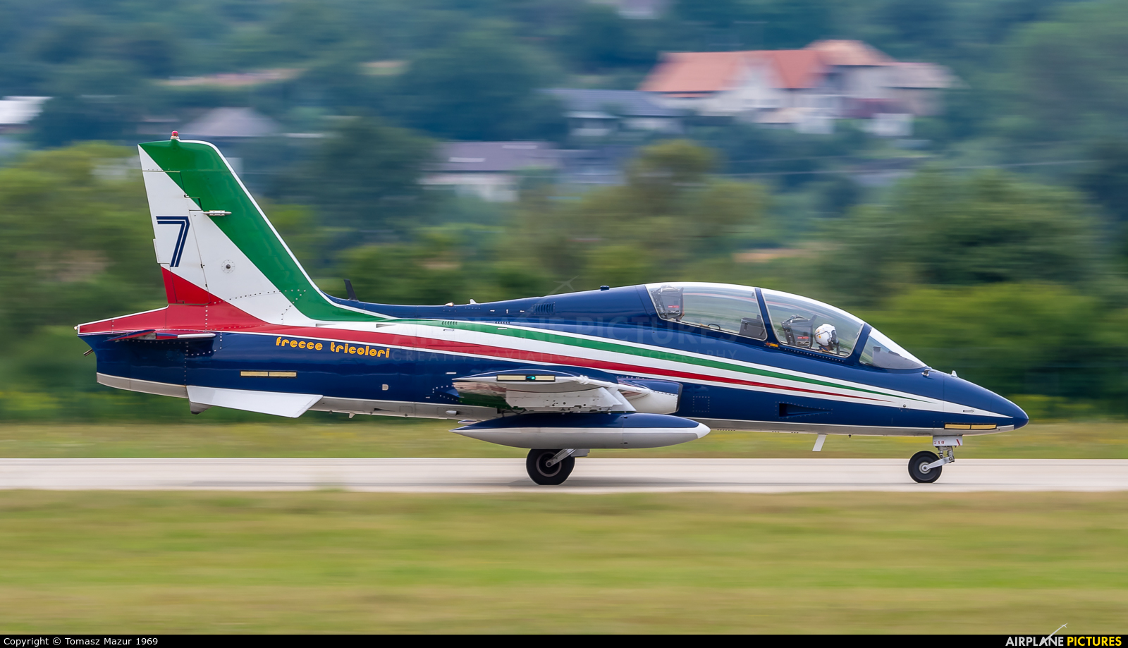 "Italy - Air Force ""Frecce Tricolori"" 7 aircraft at Sliač"