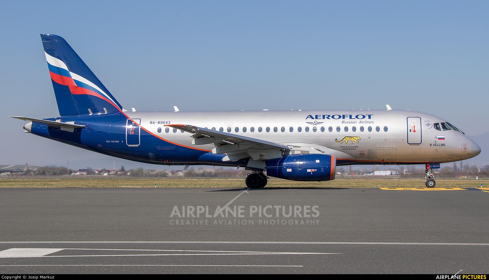 Aeroflot RA-89043 aircraft at Zagreb