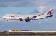 Qatar Cargo Boeing 747-8F visited East Midlands for the first time title=