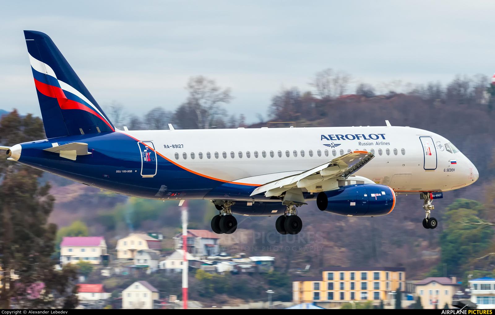 Aeroflot RA-89127 aircraft at Sochi Intl