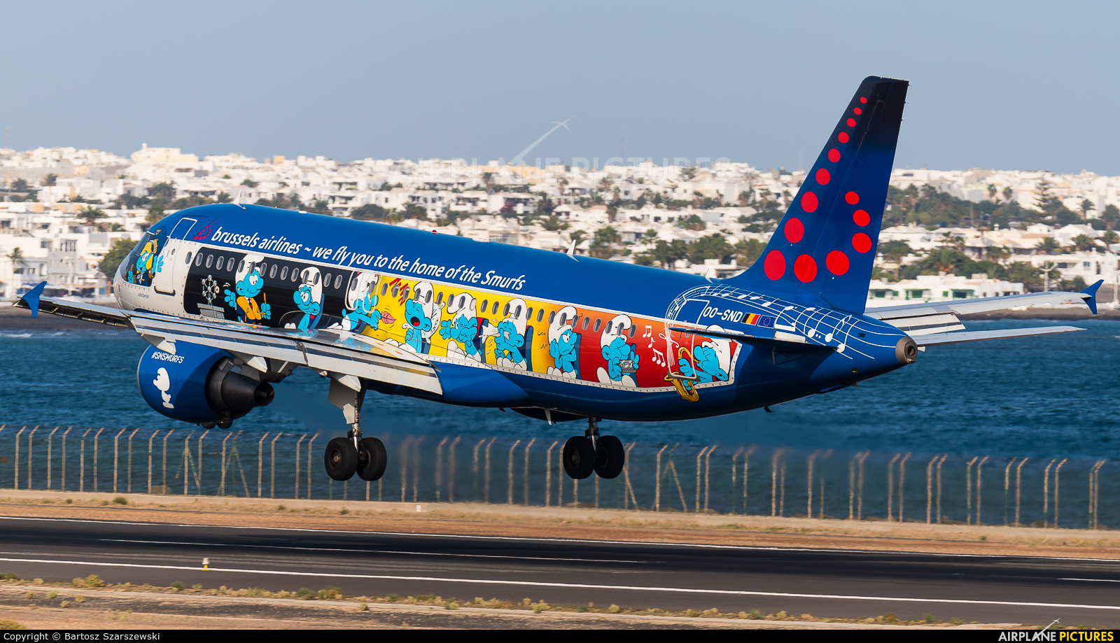 Brussels Airlines OO-SND aircraft at Lanzarote - Arrecife