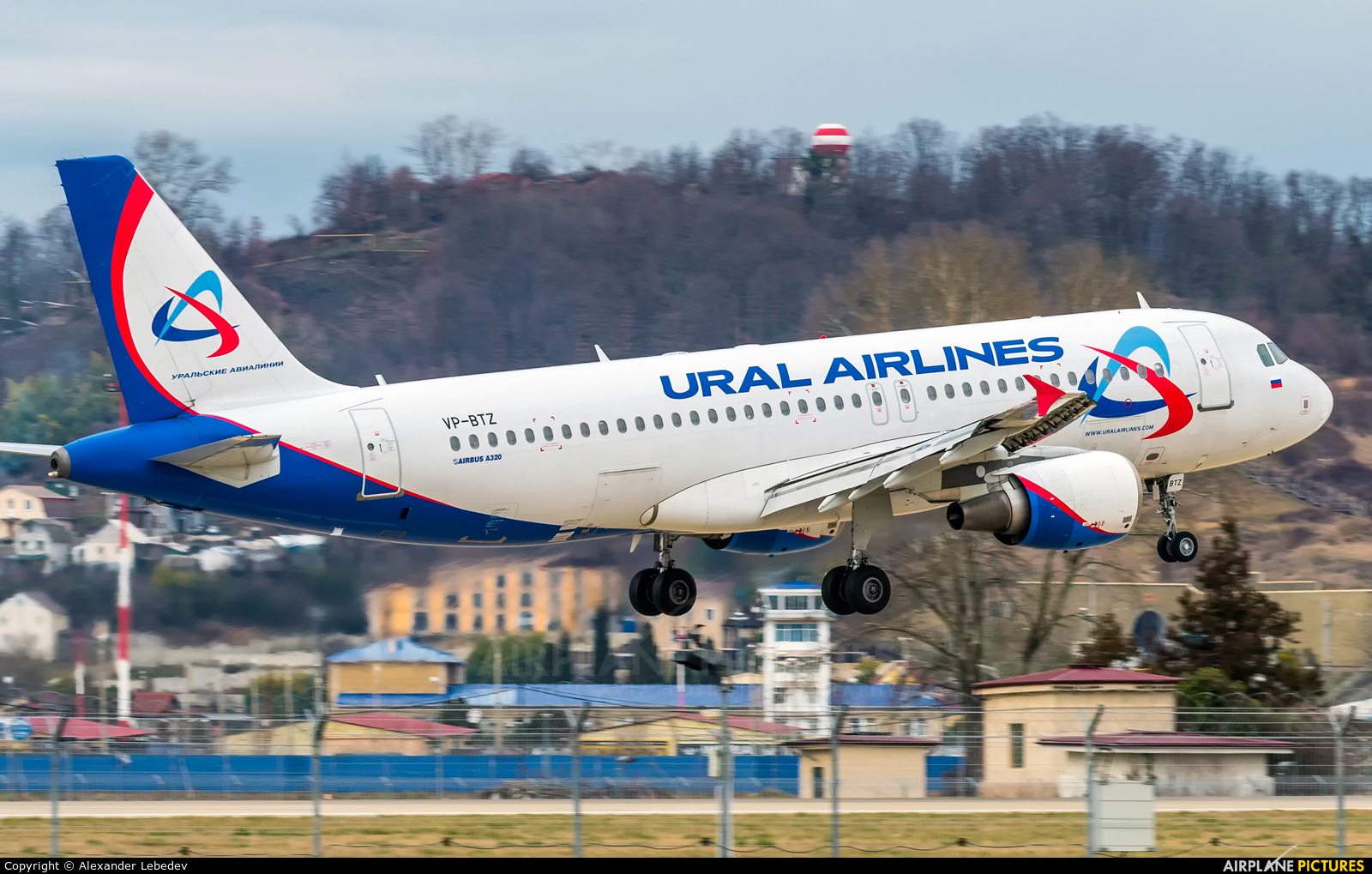 Ural Airlines VP-BTZ aircraft at Sochi Intl