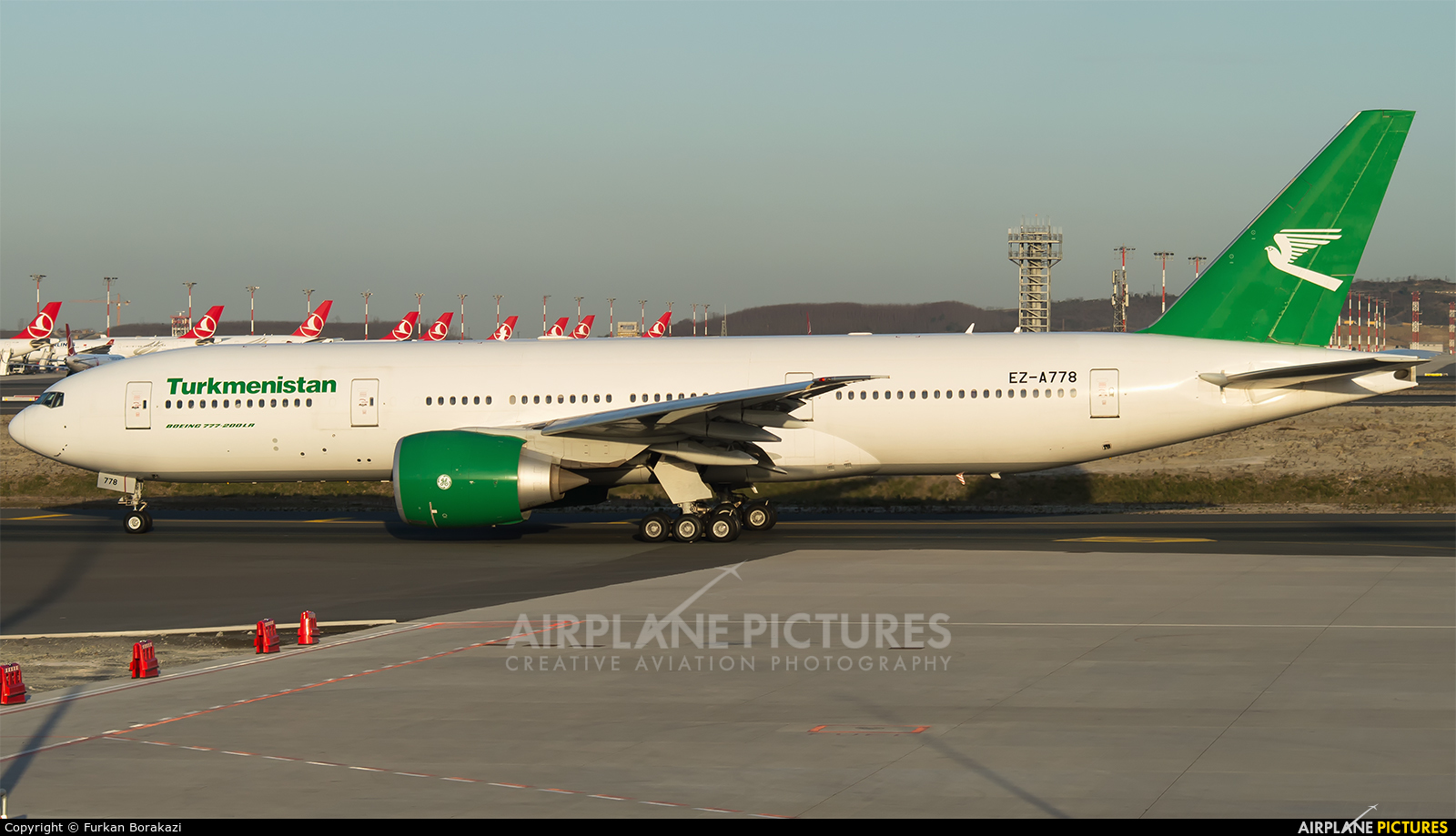Turkmenistan Airlines EZ-A778 aircraft at İstanbul New Airport