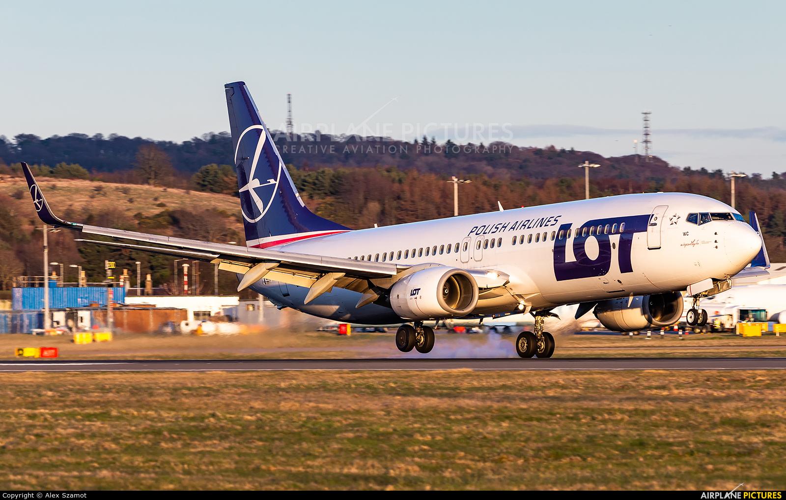 LOT - Polish Airlines SP-LWC aircraft at Edinburgh