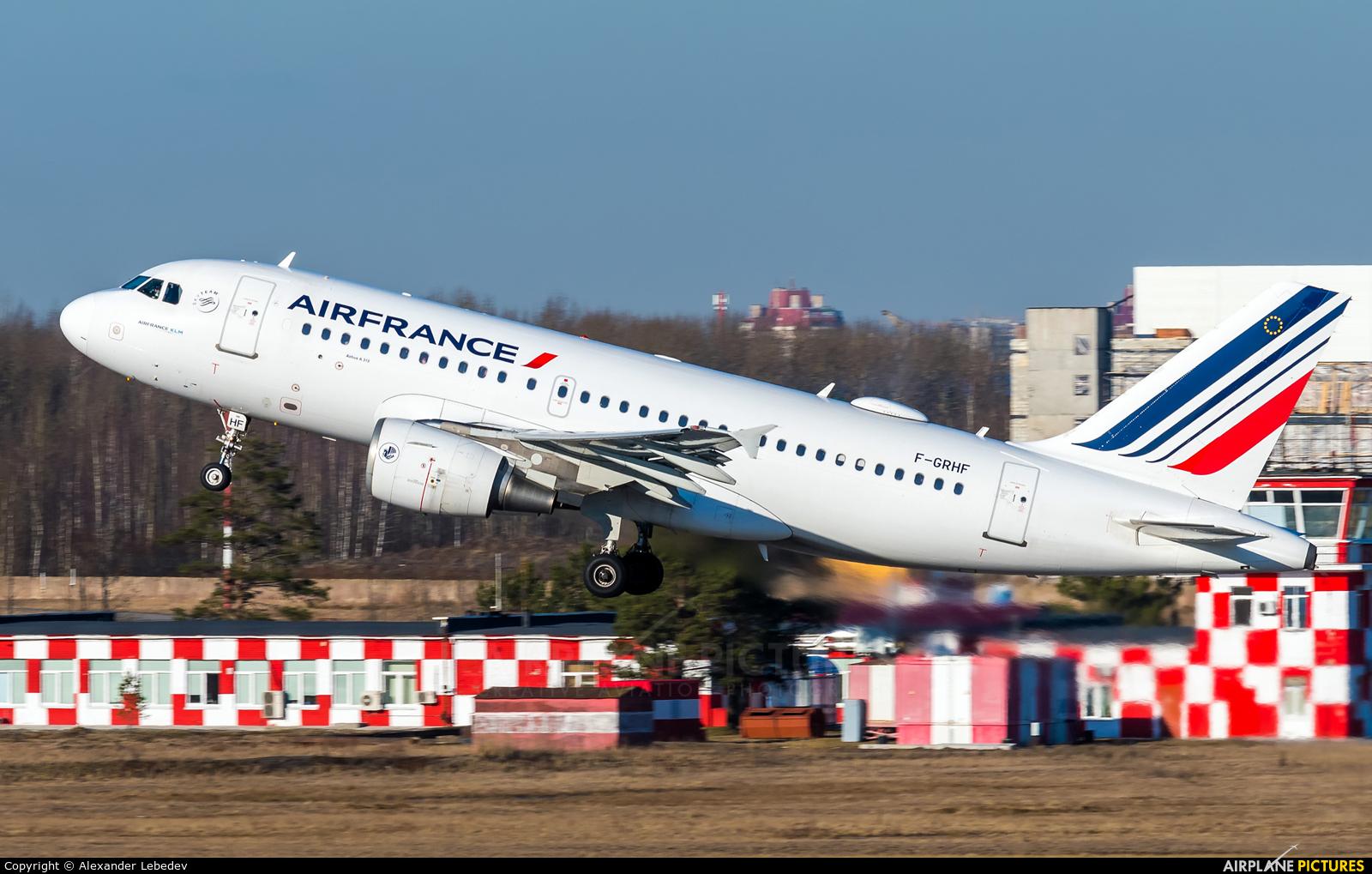 Air France F-GRHF aircraft at St. Petersburg - Pulkovo