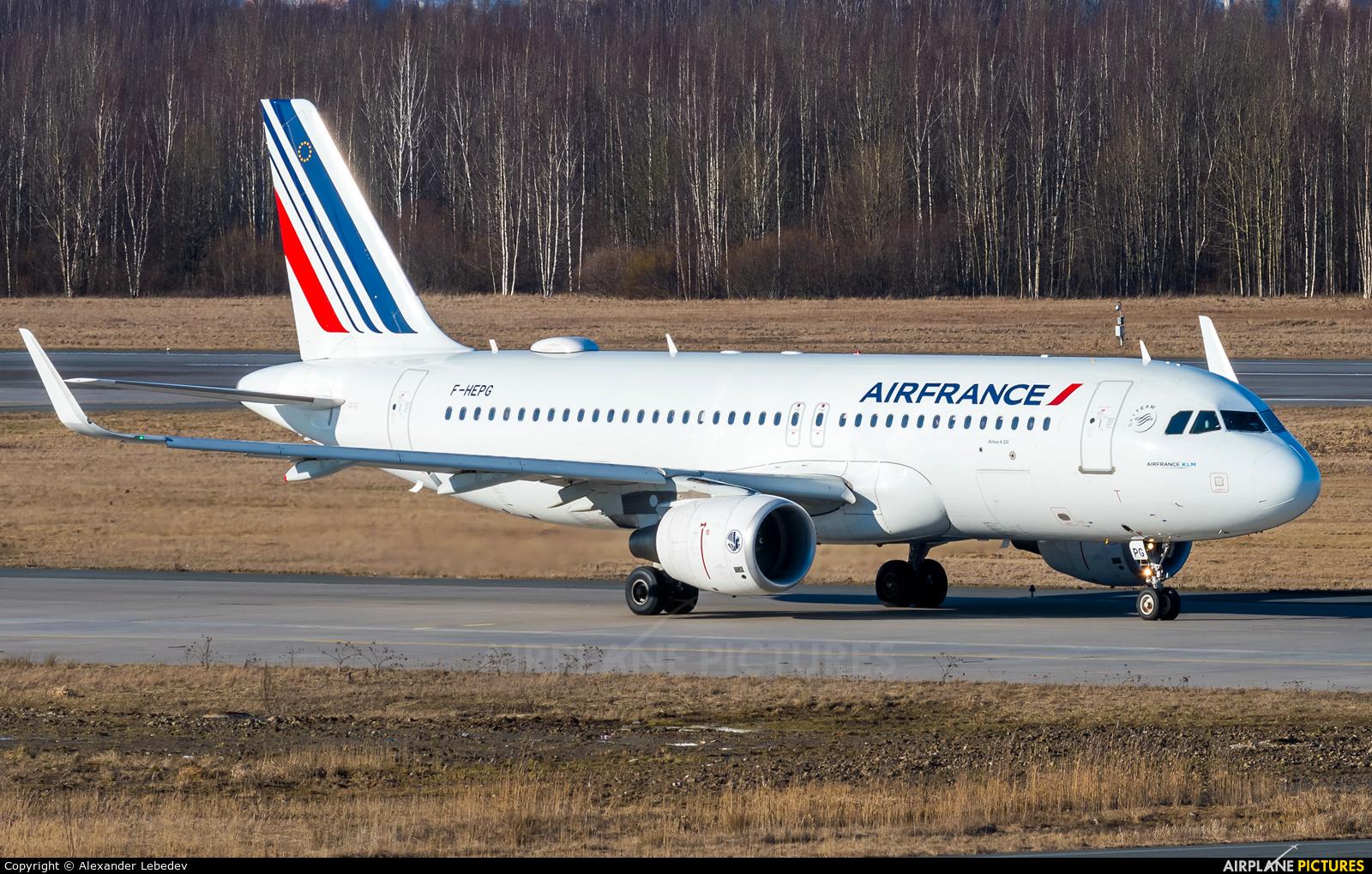 Air France F-HEPG aircraft at St. Petersburg - Pulkovo