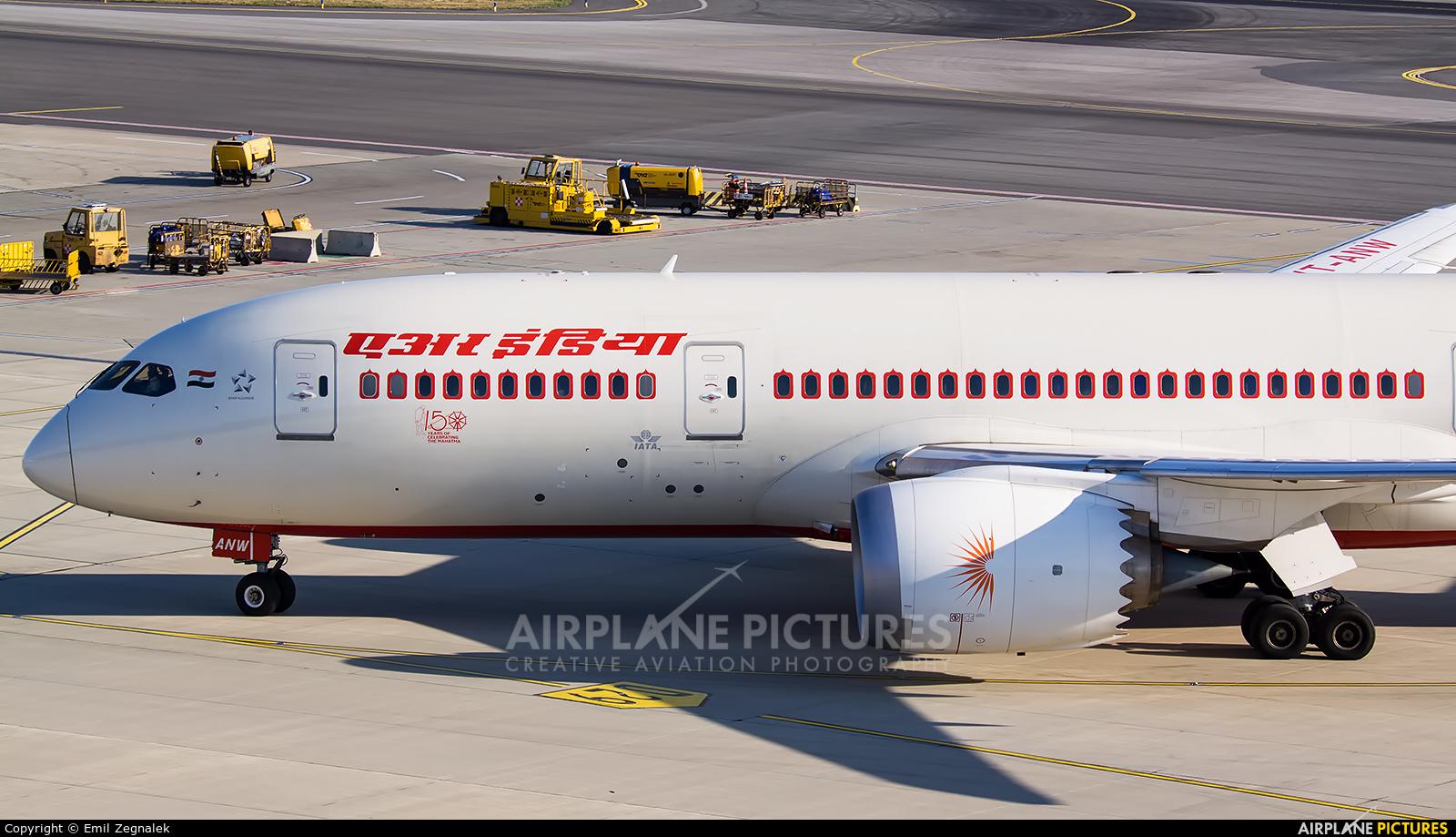 Air India VT-ANW aircraft at Vienna - Schwechat