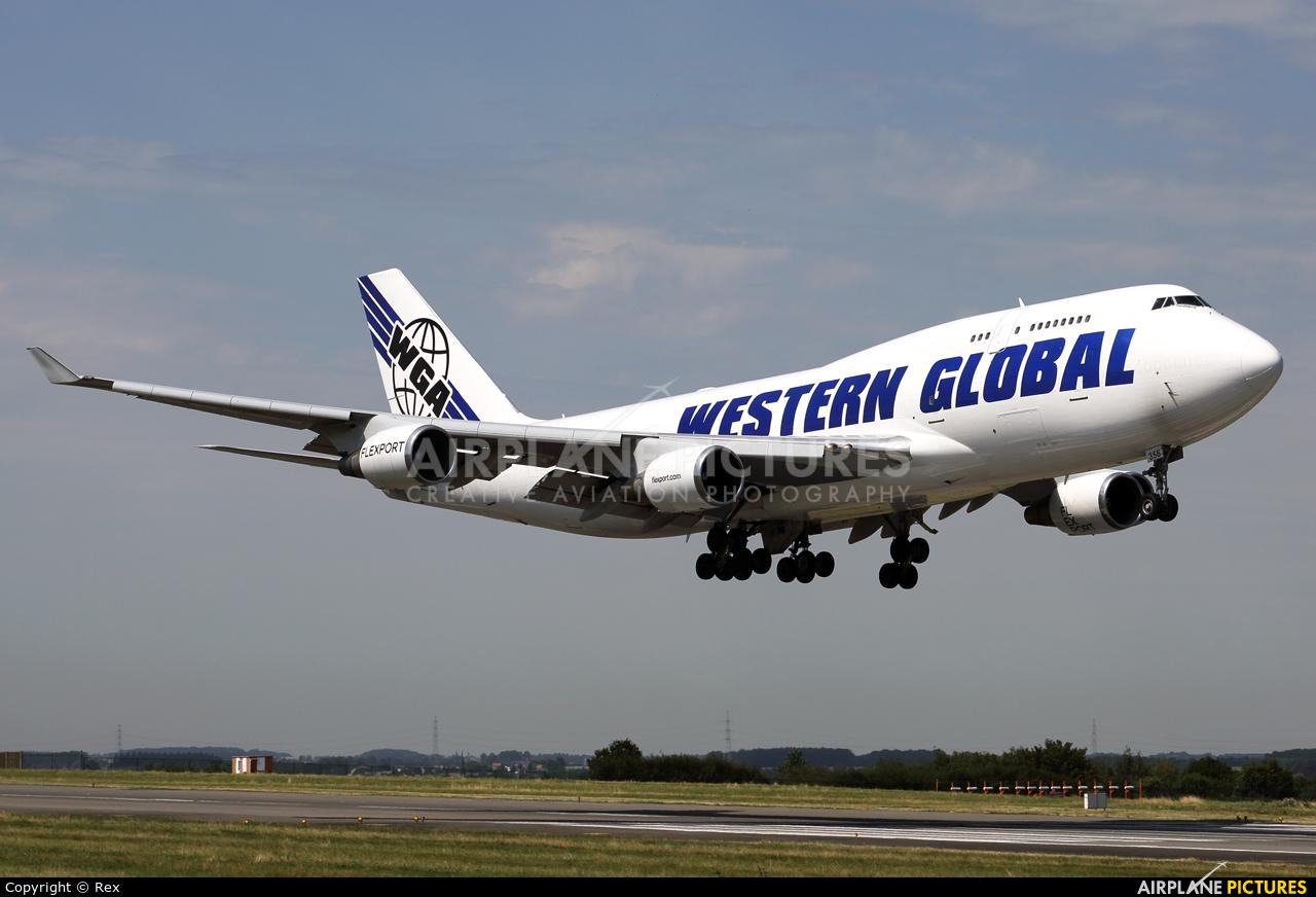 Western Global Airlines N356KD aircraft at Liège-Bierset