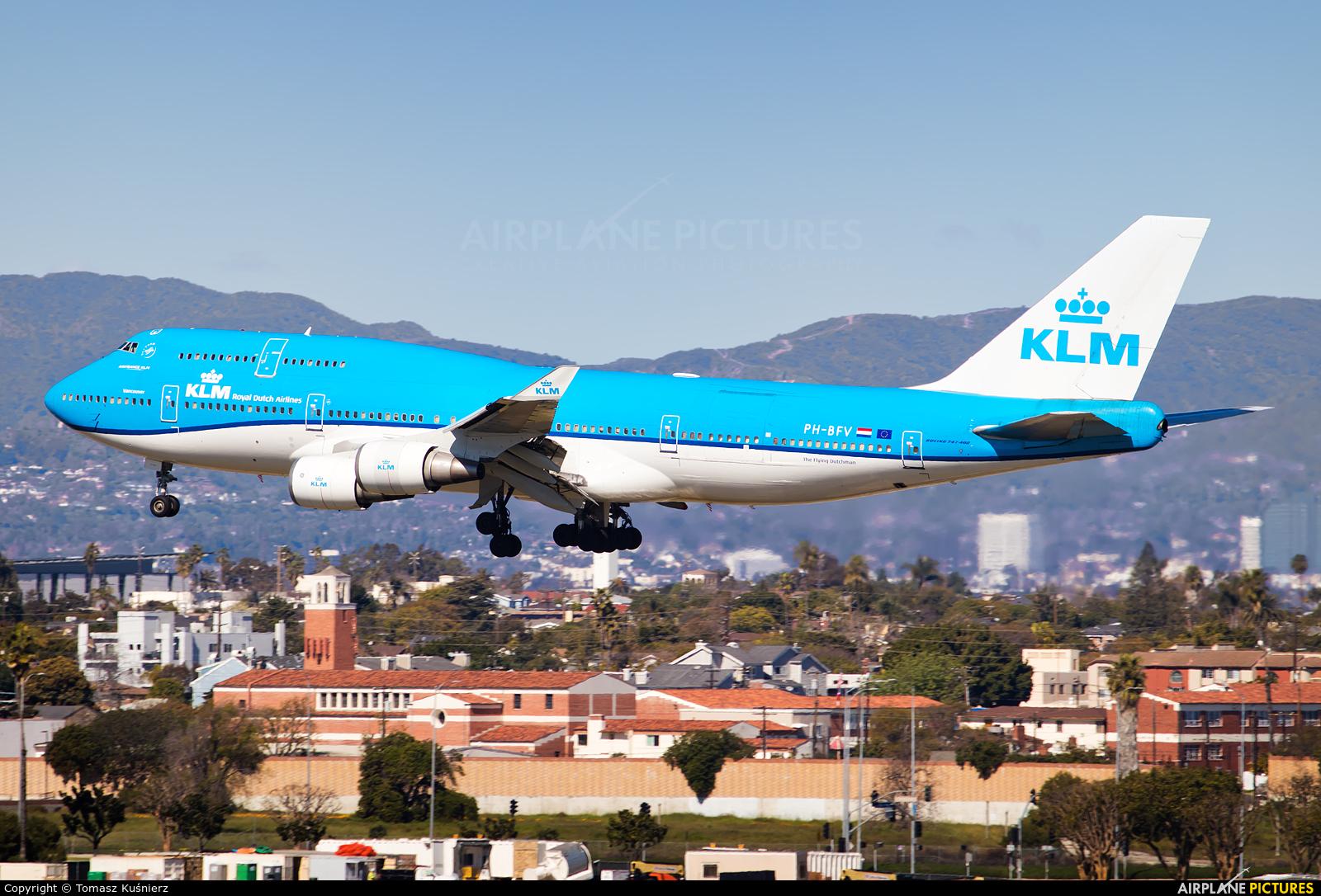 KLM PH-BFV aircraft at Los Angeles Intl