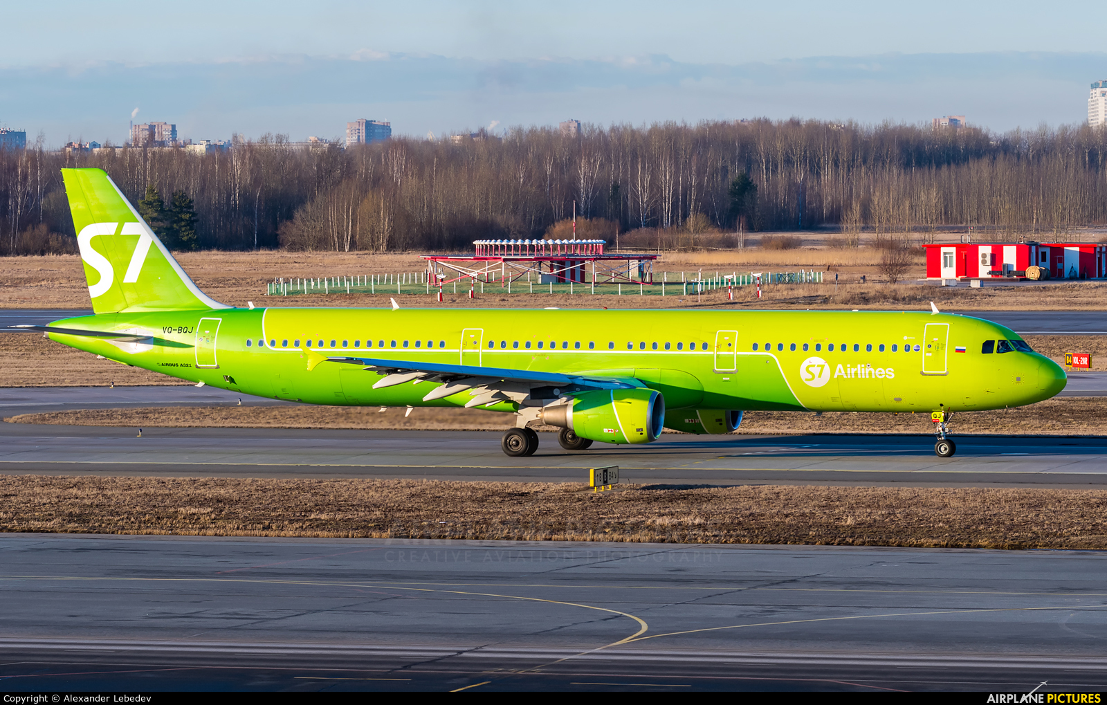 S7 Airlines VQ-BQJ aircraft at St. Petersburg - Pulkovo