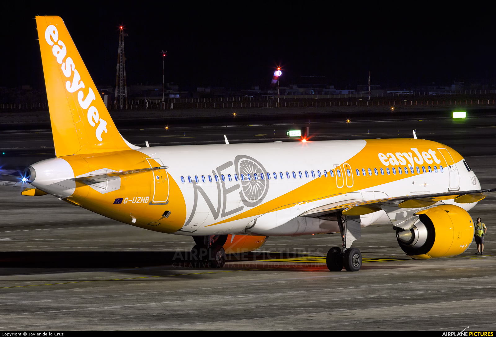 easyJet G-UZHB aircraft at Tenerife Sur - Reina Sofia