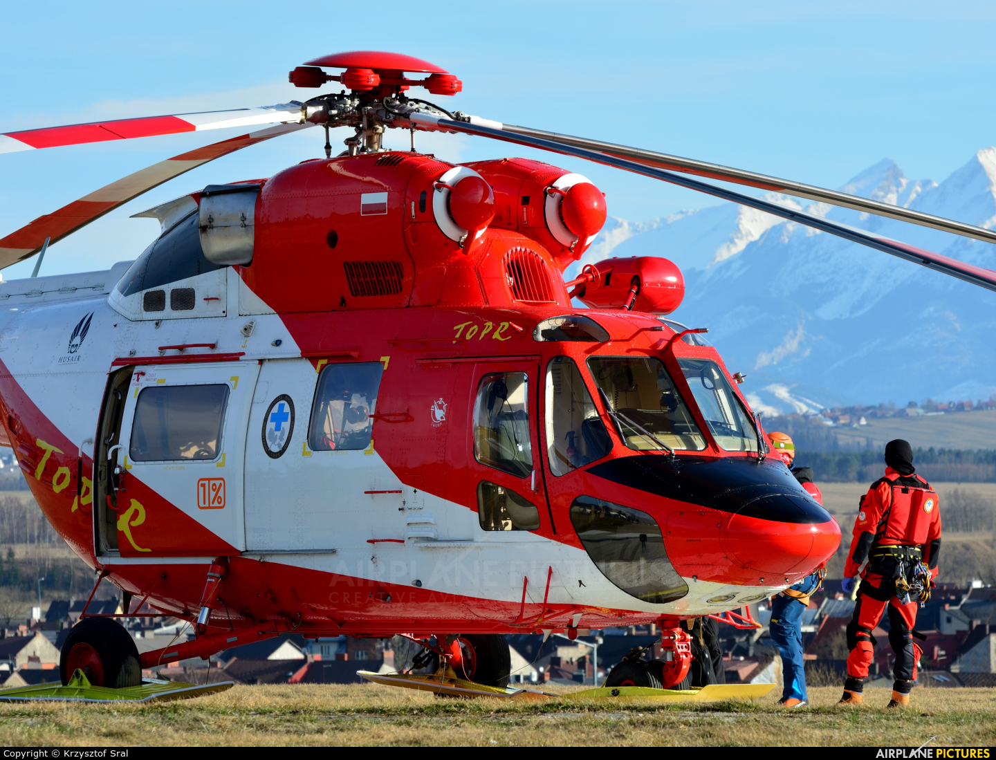 Tatra Mountains Rescue (TOPR) SP-SXW aircraft at Nowy Targ