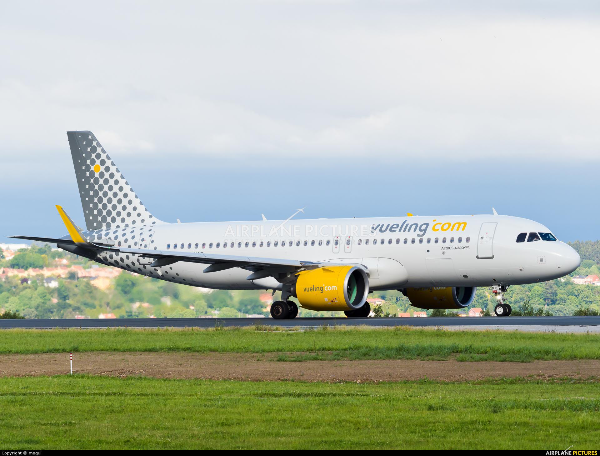 Vueling Airlines EC-NAE aircraft at La Coruña
