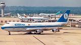 Sabena Boeing 747-100 OO-SGA at London - Gatwick airport