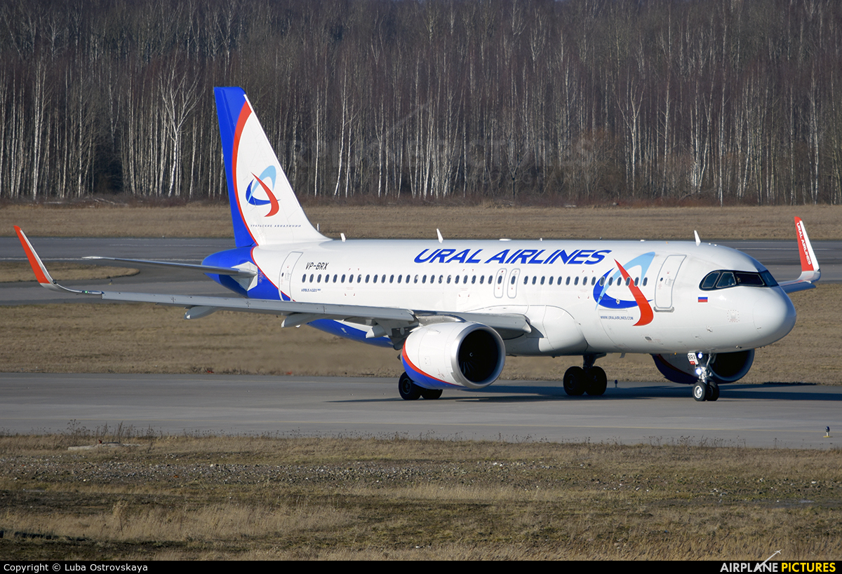 Ural Airlines VP-BRX aircraft at St. Petersburg - Pulkovo