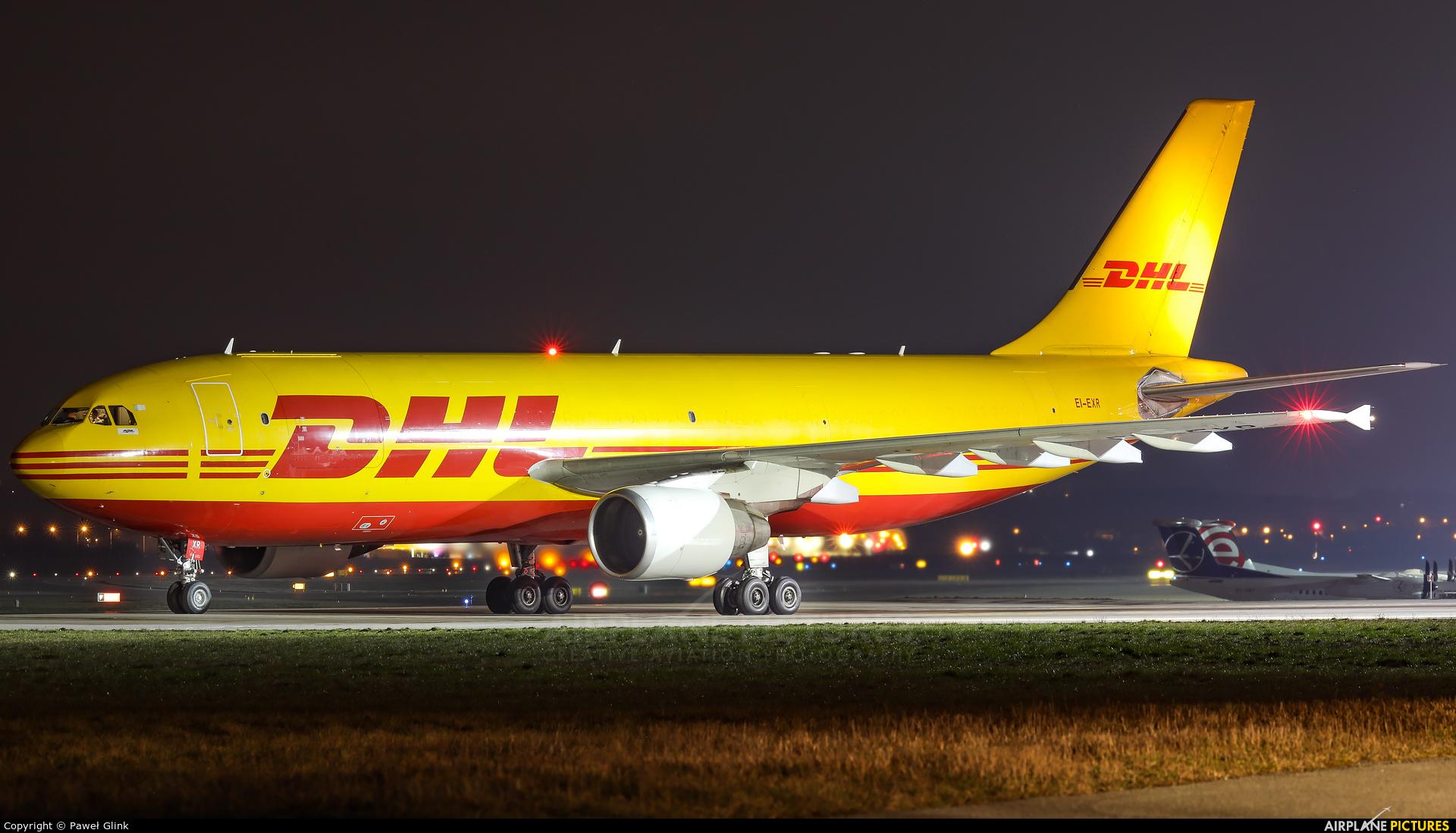 DHL Cargo EI-EXR aircraft at Gdańsk - Lech Wałęsa