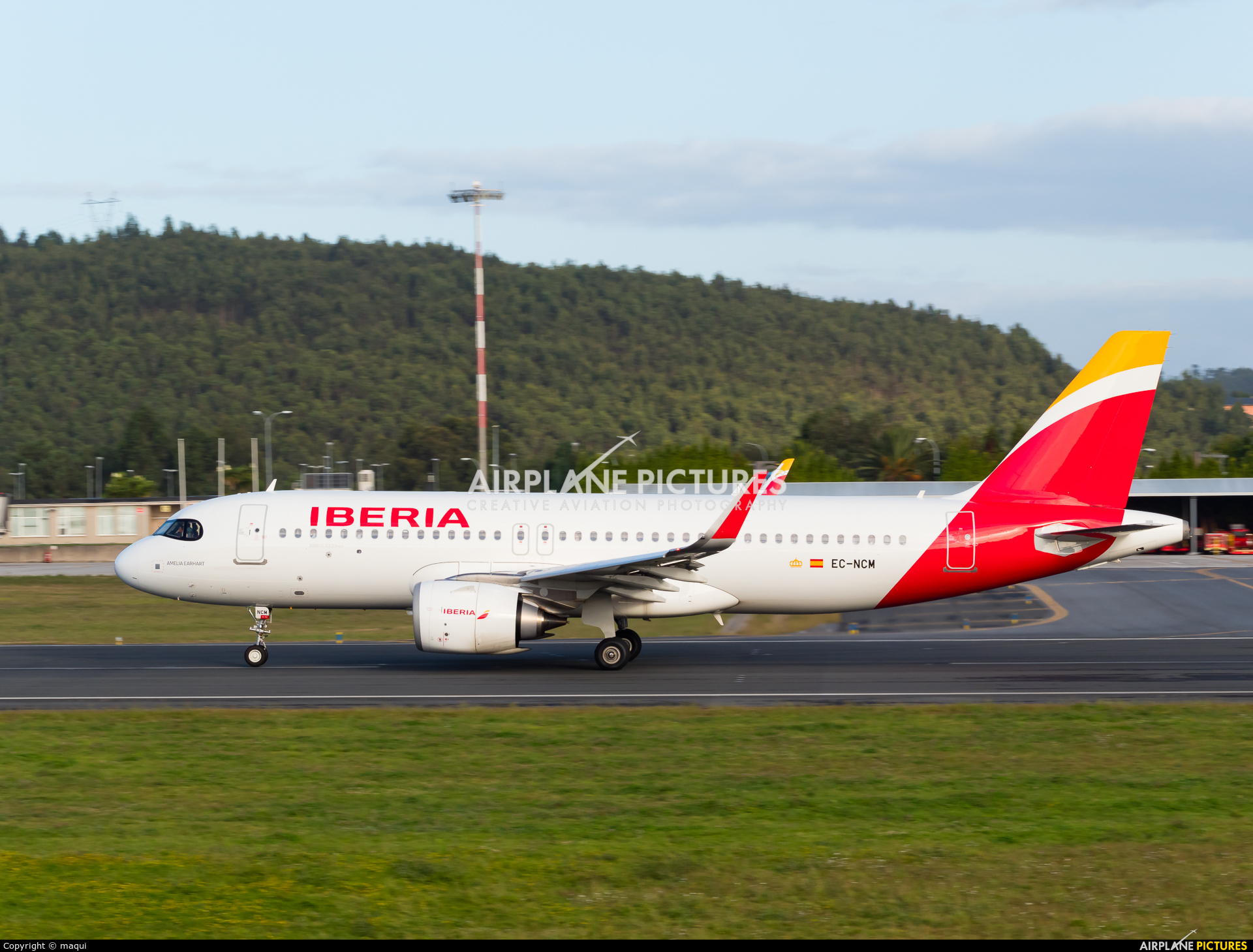 Iberia EC-NCM aircraft at La Coruña
