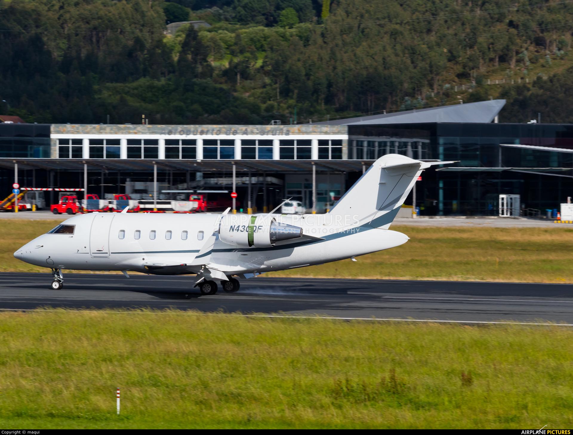 Private N43QF aircraft at La Coruña