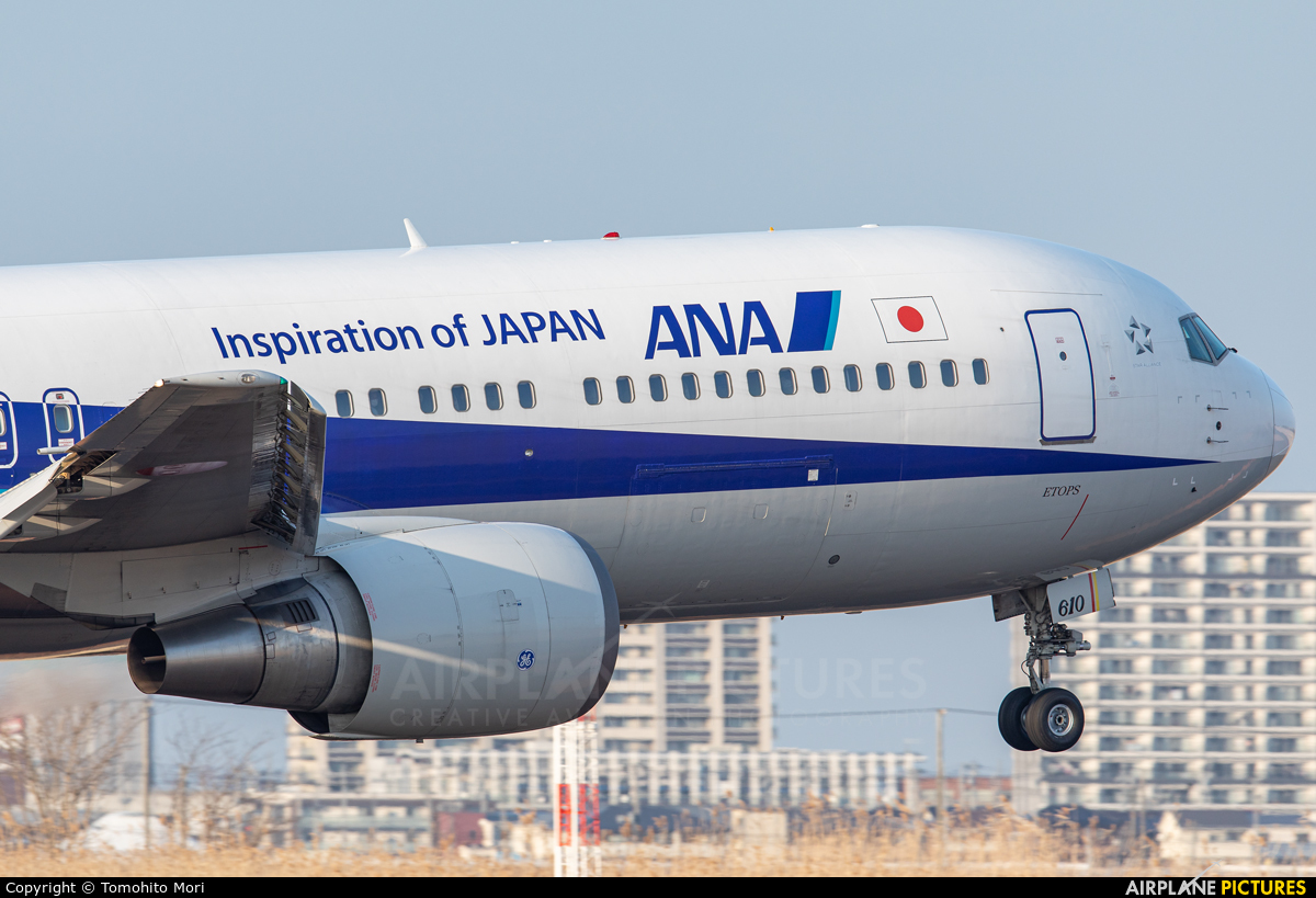 ANA - All Nippon Airways JA610A aircraft at Sendai