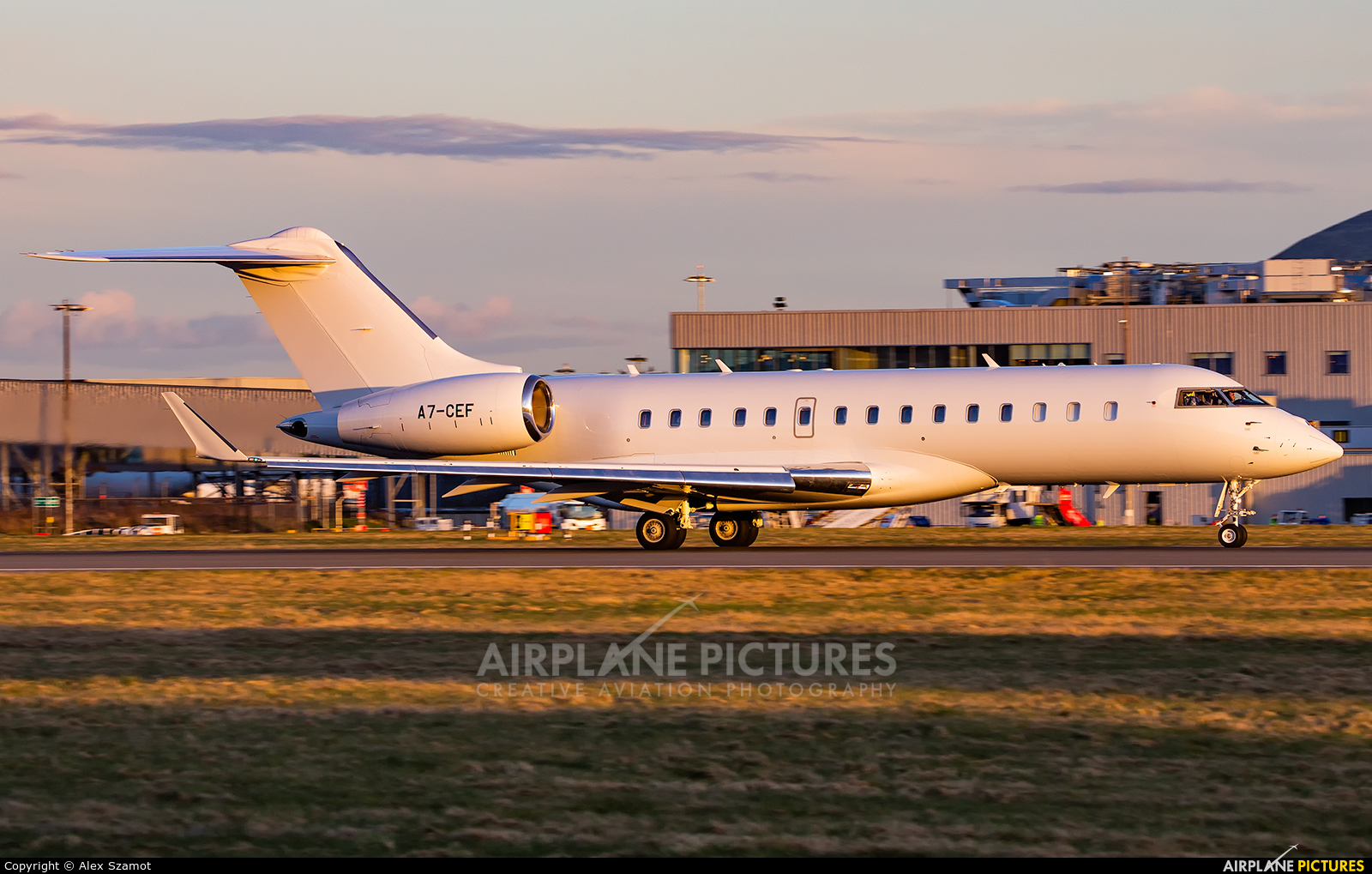 Qatar Executive A7-CEF aircraft at Edinburgh
