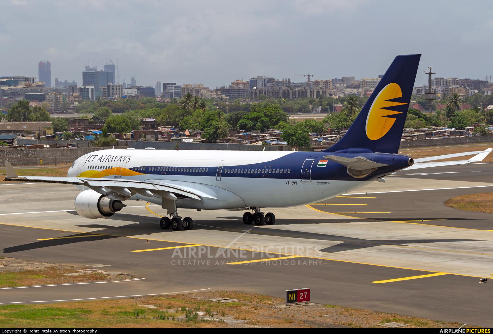 Jet Airways VT-JWV aircraft at Mumbai - Chhatrapati Shivaji Intl